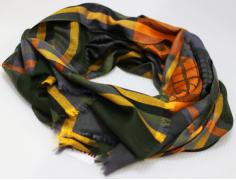 у палантин 2213-198 зелен/оранж