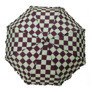 ж зонт 2213-385 клетка бордо