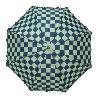 ж зонт-трость 2213-412 клетка т.син