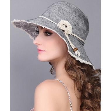 ж шляпа 2213-40 F1209-1 кружево цветок сер