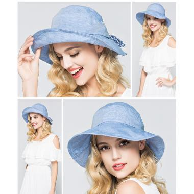 ж шляпа 2213-41 YF1603 цветок пуговка св.джинс