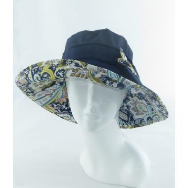 Шляпа с бантом темно синюю