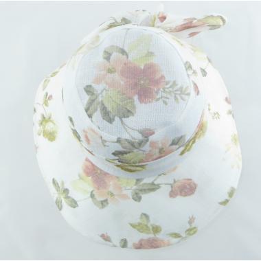 ж шляпа 2213-48 F1719 цветы бел/оранж