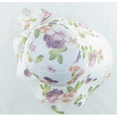 ж шляпа 2213-48 F1719 цветы бел/розов