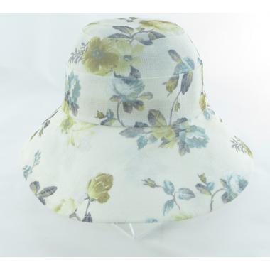 ж шляпа 2213-48 F1719 цветы беж/горчица