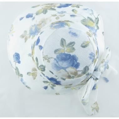 ж шляпа 2213-48 F1719 цветы бел/син