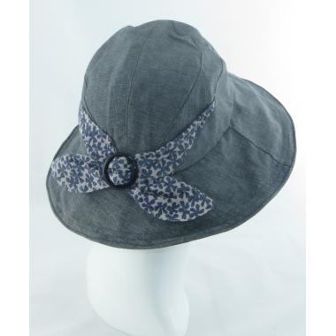 ж шляпа 2213-41 YF1603 цветок пуговка т.сер