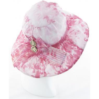Шляпка с двумя пуговками розовая купить оптом