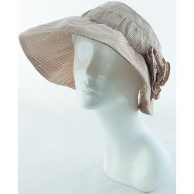 Шляпа-козырек светло-розовая