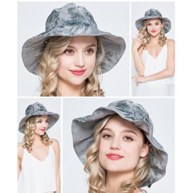Шляпка с двумя пуговками серая купить оптом
