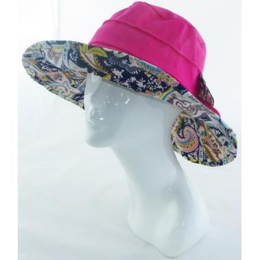 Шляпа с бантом фуксия