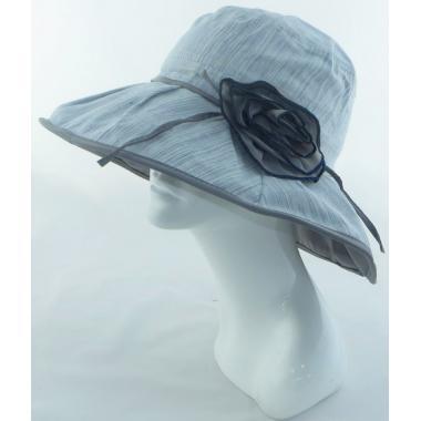 ж шляпа 2213-25 YF1709 цветок сер/голуб